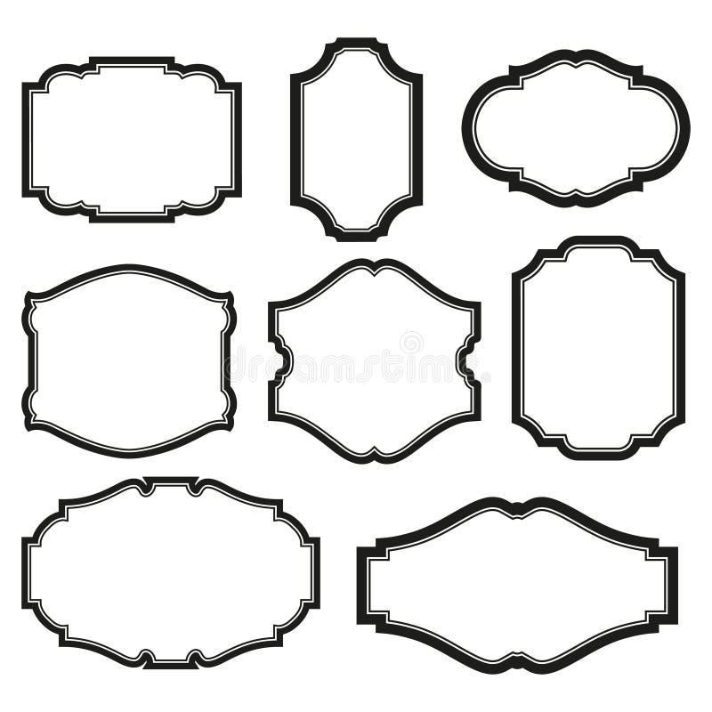 inställda ramar vektor illustrationer