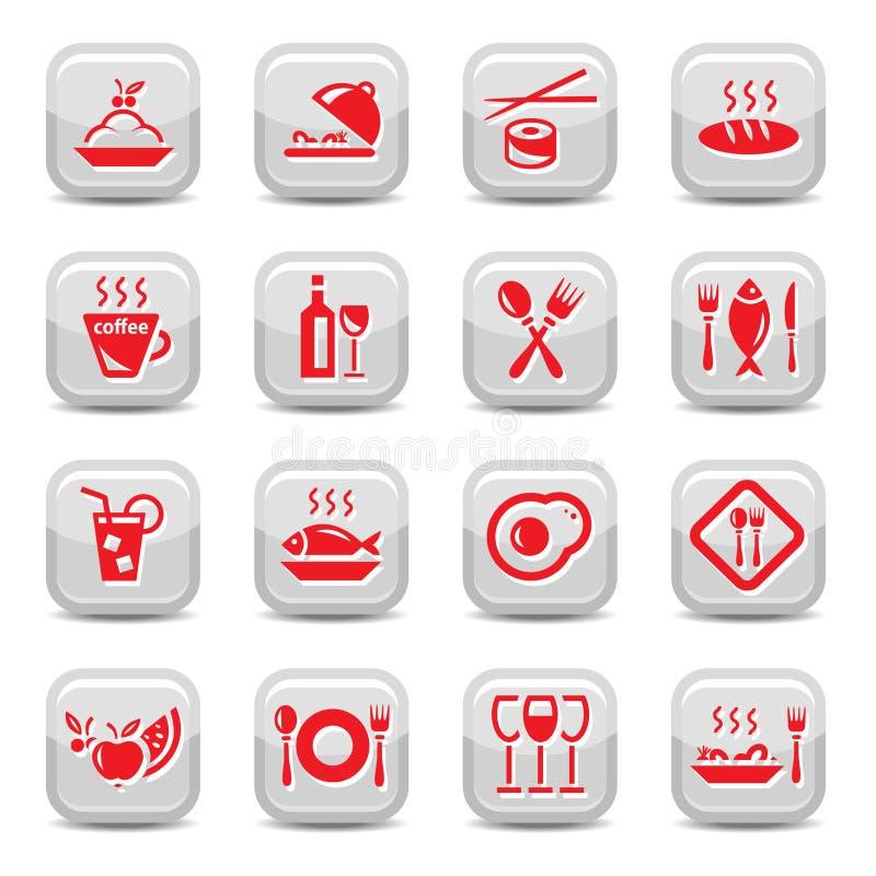 Download Inställda Restaurangsymboler Vektor Illustrationer - Illustration av bagerit, fruktsaft: 27284740