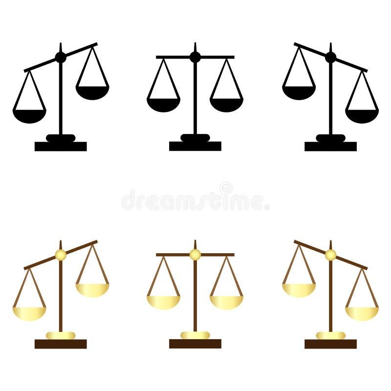 inställda scales stock illustrationer