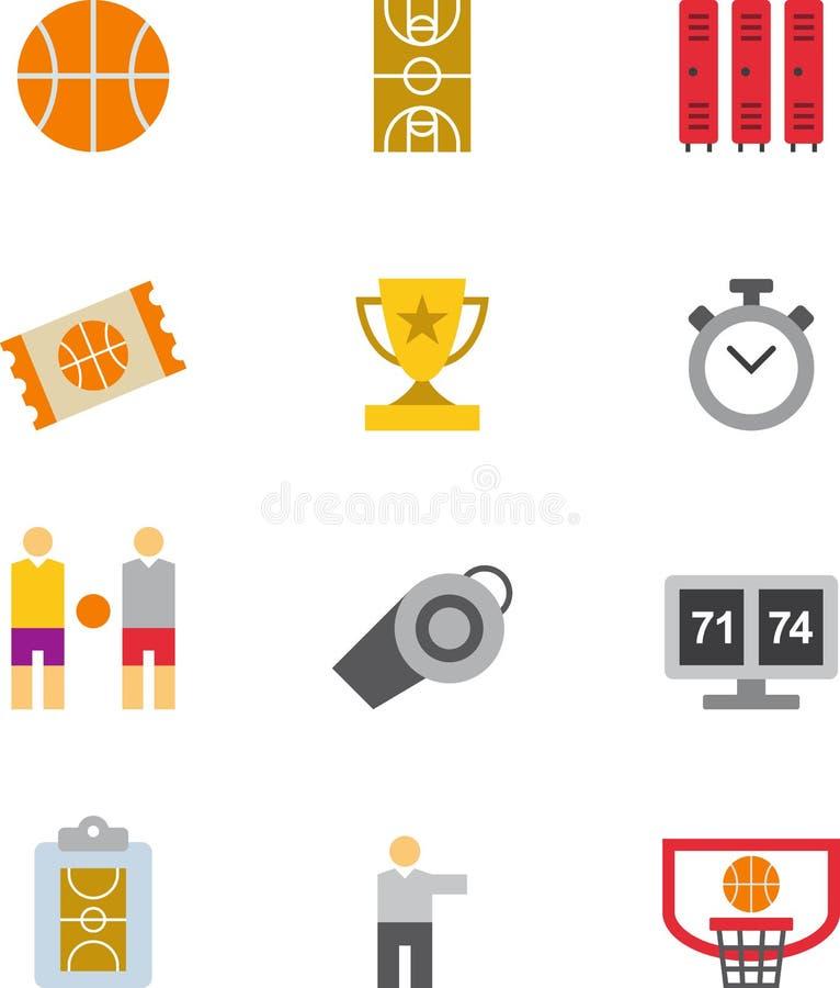inställda silhouettes för basketsymbol spelare vektor illustrationer