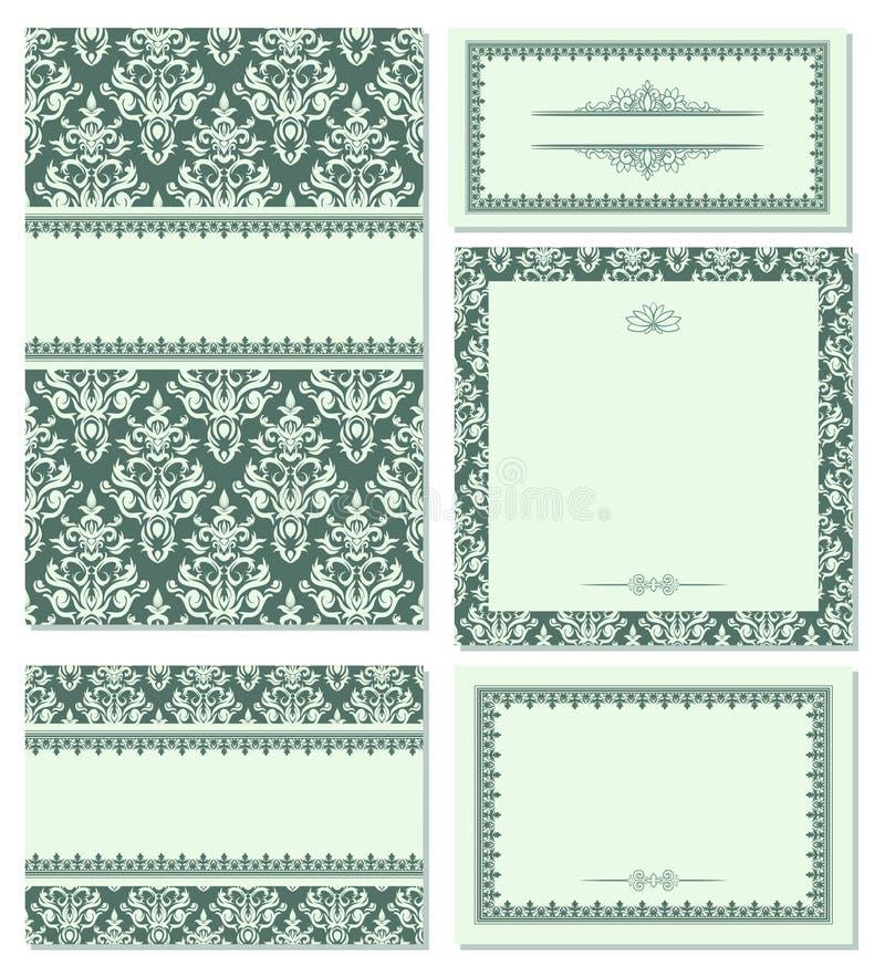 inställda skönhetramar royaltyfri illustrationer