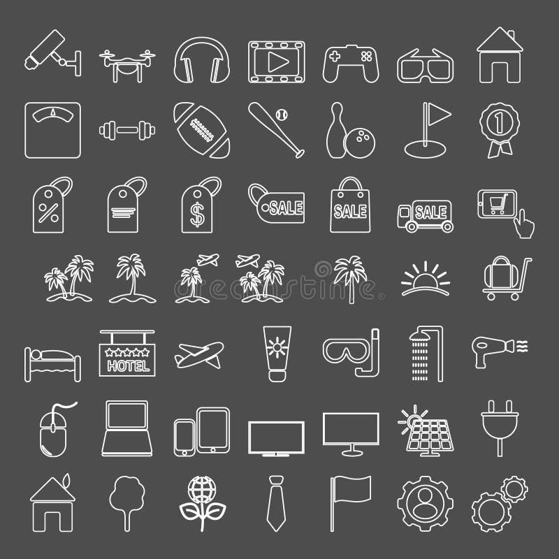 inställda symboler Symboler för diagram och rengöringsdukdesign vektor illustrationer