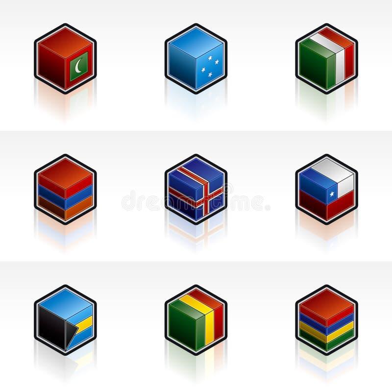inställda symboler för flagga 56h vektor illustrationer