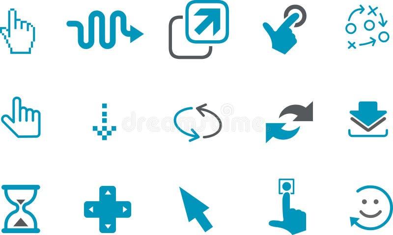 inställda symbolspekare vektor illustrationer