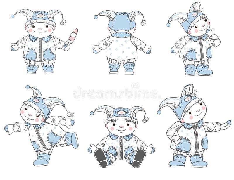 Download Inställda teckningsungar vektor illustrationer. Illustration av kläder - 27286087