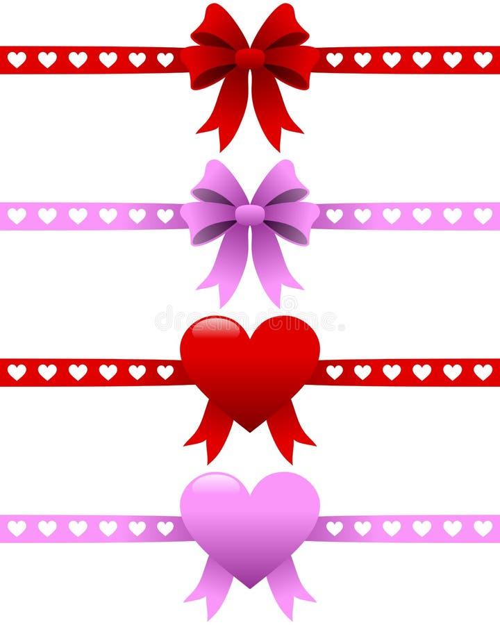 Inställda valentindagband vektor illustrationer