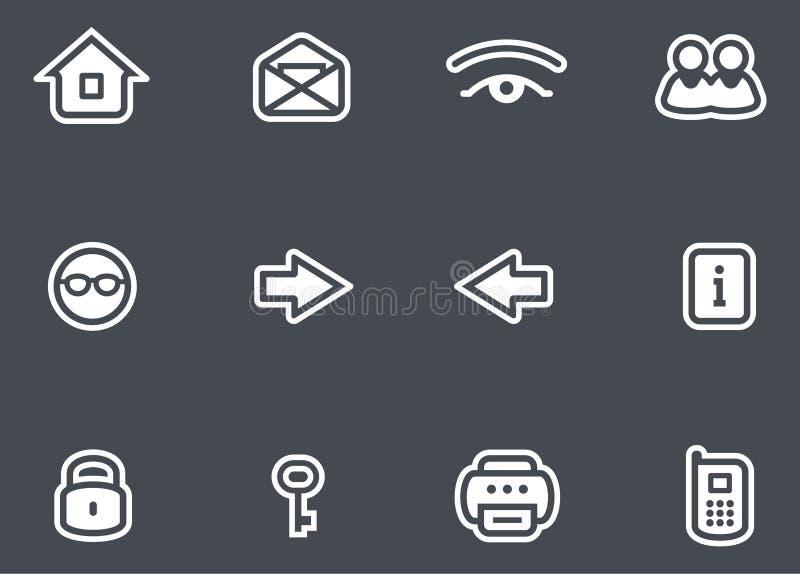 Inställda vektorsymboler stock illustrationer