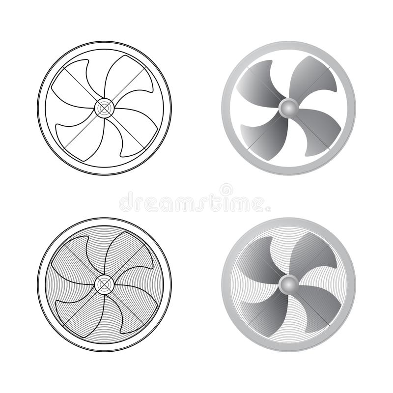 inställda ventilatorer vektor illustrationer