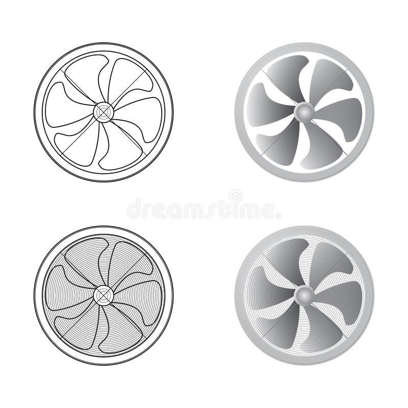 inställda ventilatorer stock illustrationer