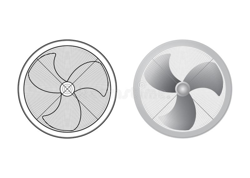 inställda ventilatorer royaltyfri illustrationer