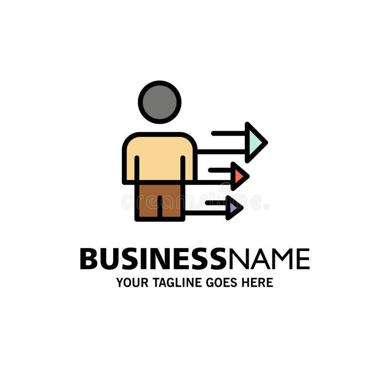 Inställning affär, ledarskap, modern affär Logo Template plan f?rg stock illustrationer