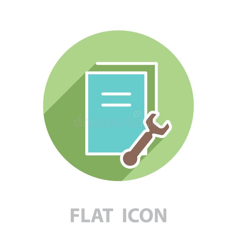 Inställning av datadokument, mappar, information, linjen vektor illustrationer