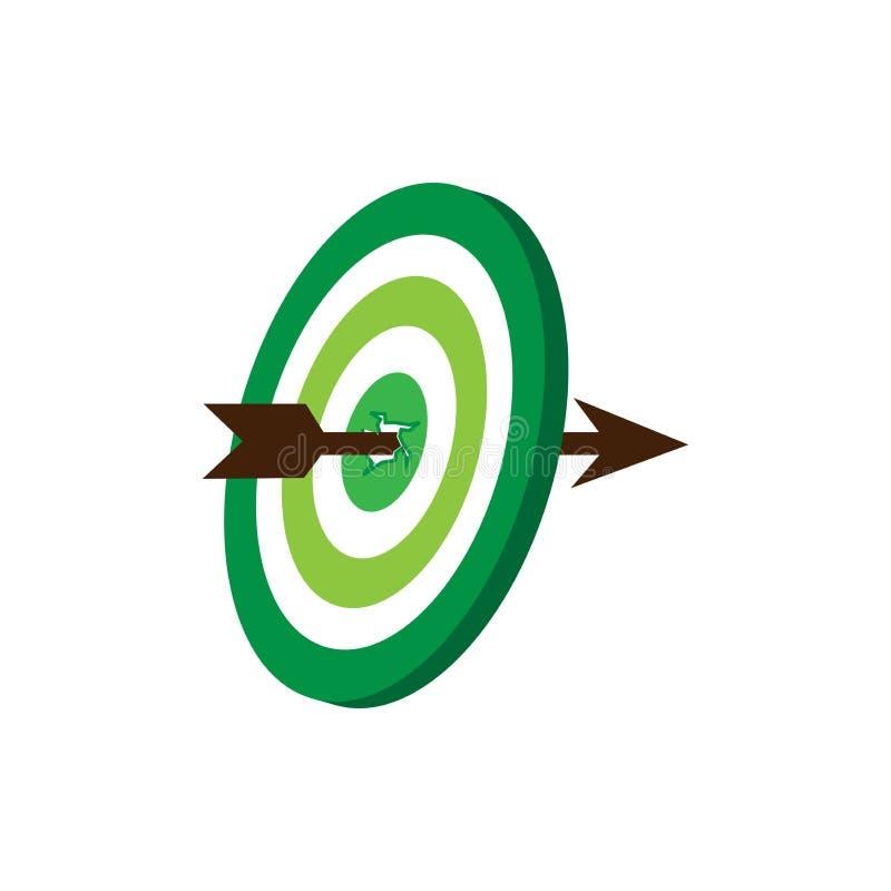 Inställning av mål, mål och mål-perfekt stock illustrationer