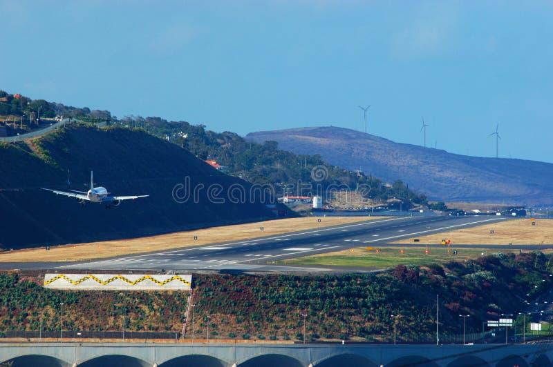 Inställning till Funchal arkivbild