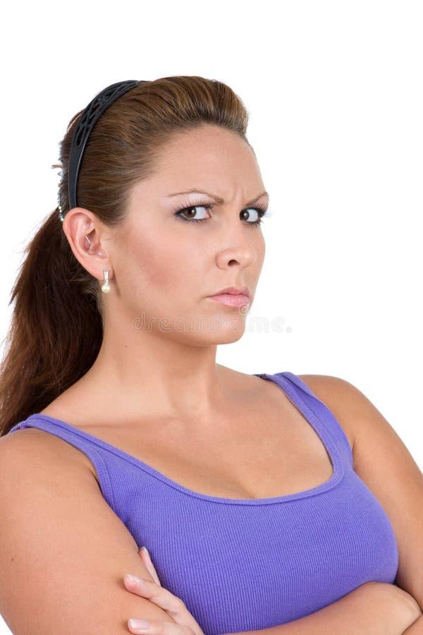 inställningkvinna arkivfoto