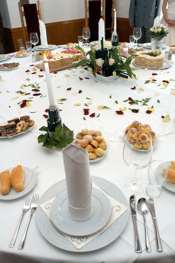inställningsbröllop royaltyfri bild