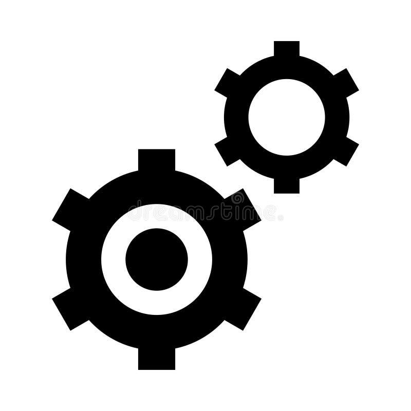 Inställningssymbol vektor illustrationer
