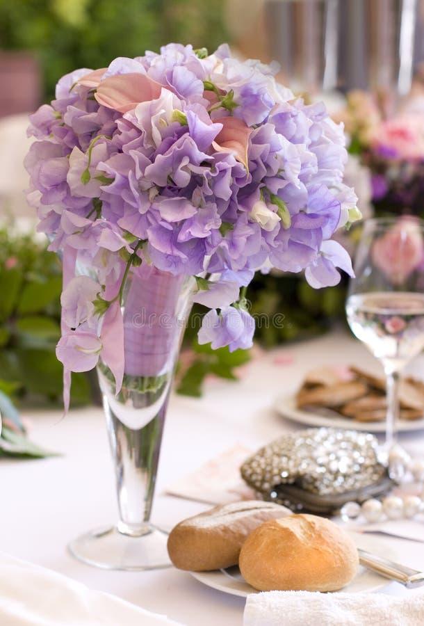 inställningstabellbröllop royaltyfri foto