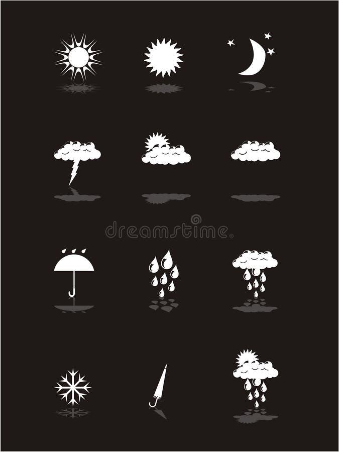 Inställt väder för baner pictograms
