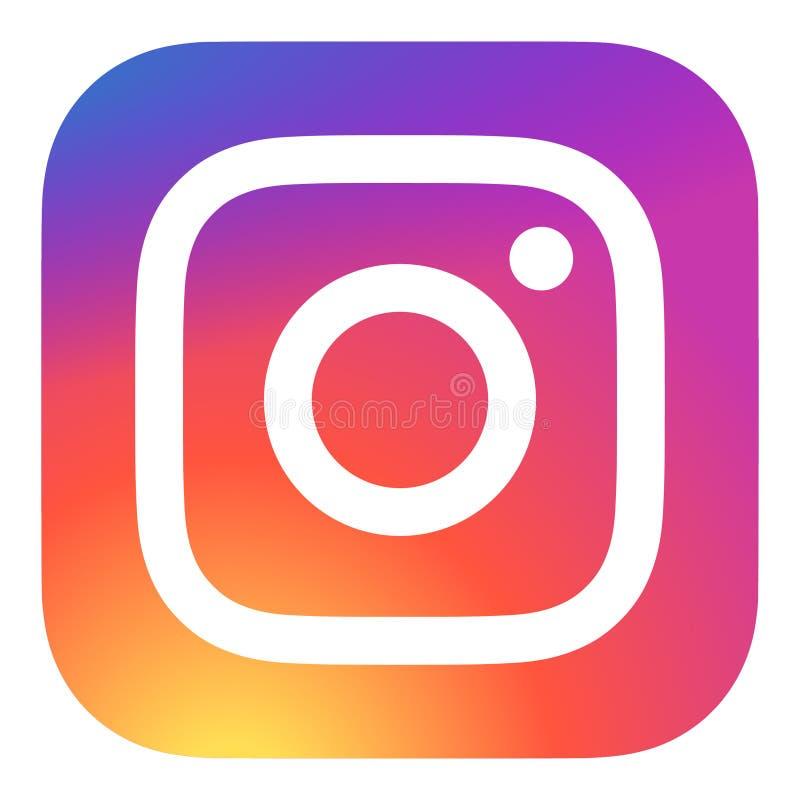 instagram商标传染媒介颜色eps 库存例证