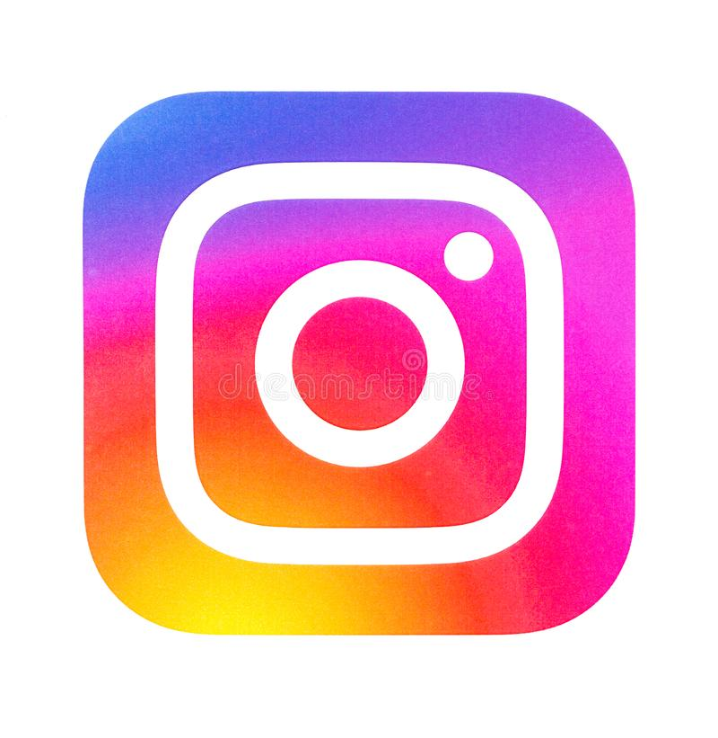 Instagram新的商标 库存照片