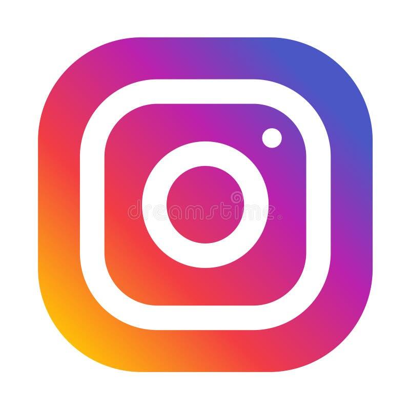 Instagram象 向量例证