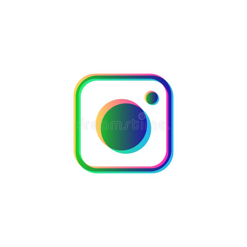 instagram συμβόλων κοινωνικό στοιχείο λογότυπων εικονιδίων μέσων απομονωμένο διάνυσμα διανυσματική απεικόνιση