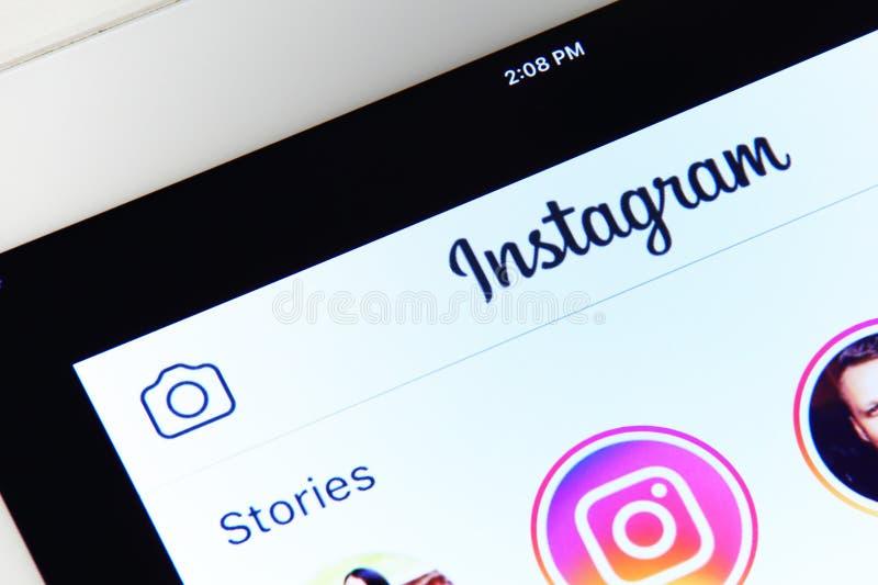 Instagram-Anwendungsmenü lizenzfreies stockfoto