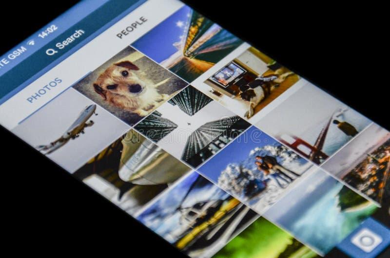 Instagram app royaltyfria bilder