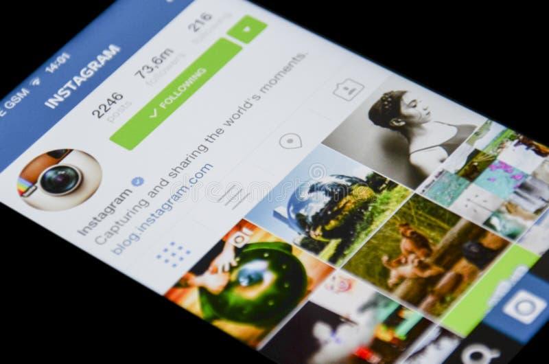 Instagram app arkivfoto