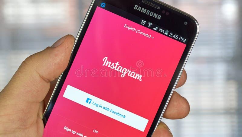 Instagram APP mobile photo libre de droits