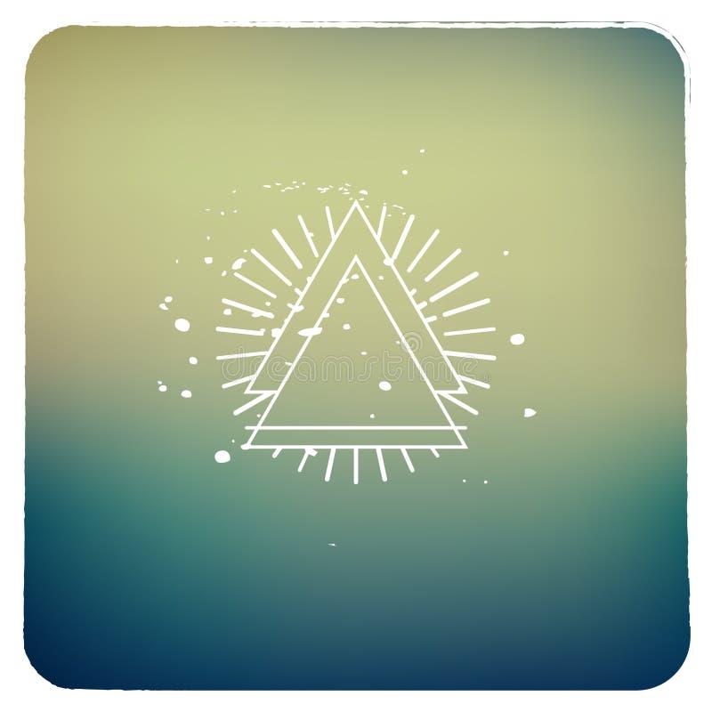 Instagram-Art-Zusammenfassungsbild Mit Rahmen Und Dreieck Werden ...