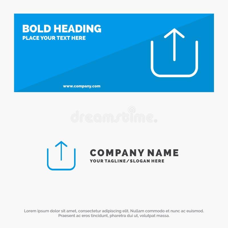 Instagram, bannière solide et affaires Logo Template de site Web d'icône de téléchargement illustration stock