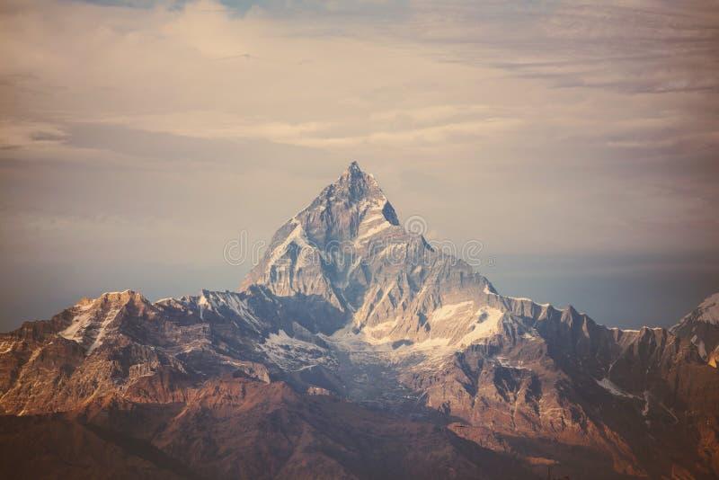 Instagram filter Himalaya mountains. In nepal stock photo
