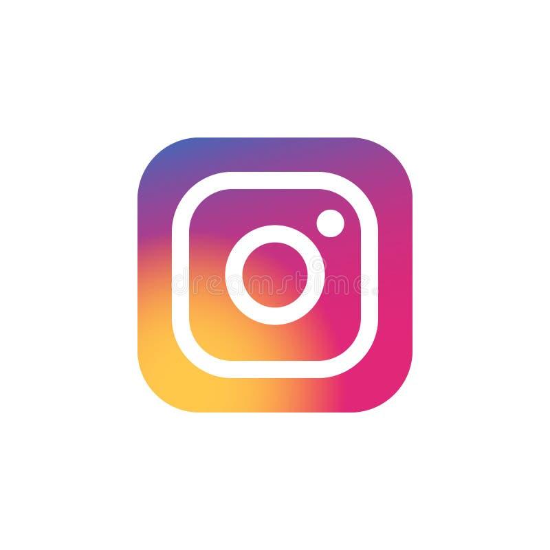 Instagram gekleurd pictogram Element van het Sociale Media pictogram van de Emblemenillustratie De tekens en de symbolen kunnen v royalty-vrije illustratie