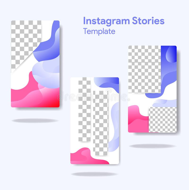 Instagram-Geschichten stock abbildung