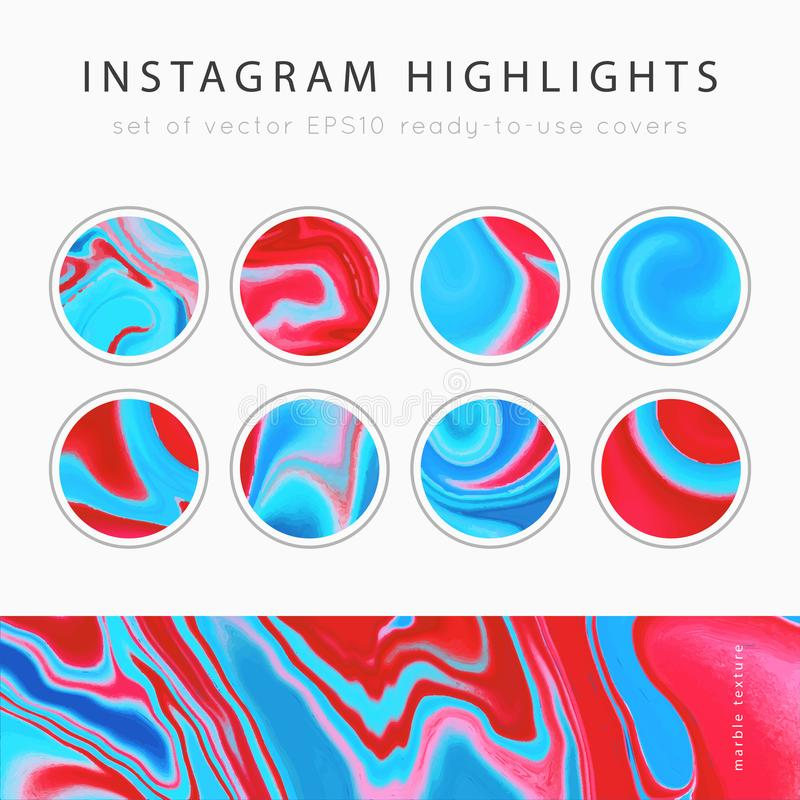 Free Instagram Highlight Covers Vector Royalty Free Stock Photography - 168284837