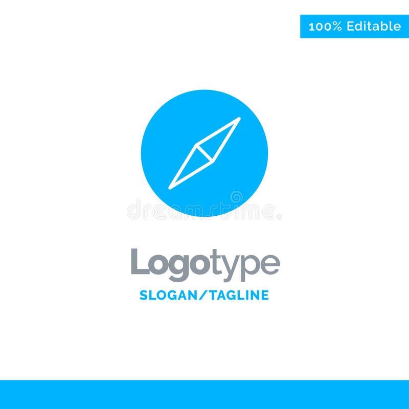 Instagram kompass, navigering blåa fasta Logo Template St?lle f?r Tagline vektor illustrationer