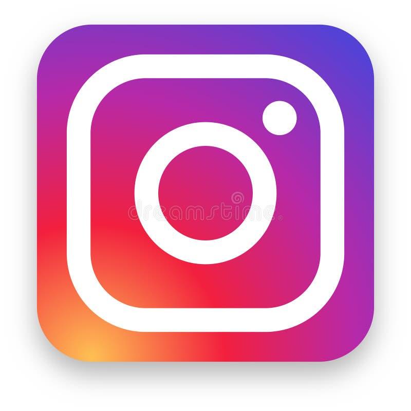 Instagram Logo Editorial Vetora Illustration ilustração stock