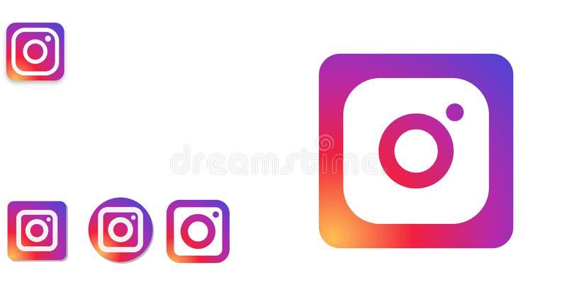 Instagram Logo Editorial Vetora Illustration ilustração do vetor