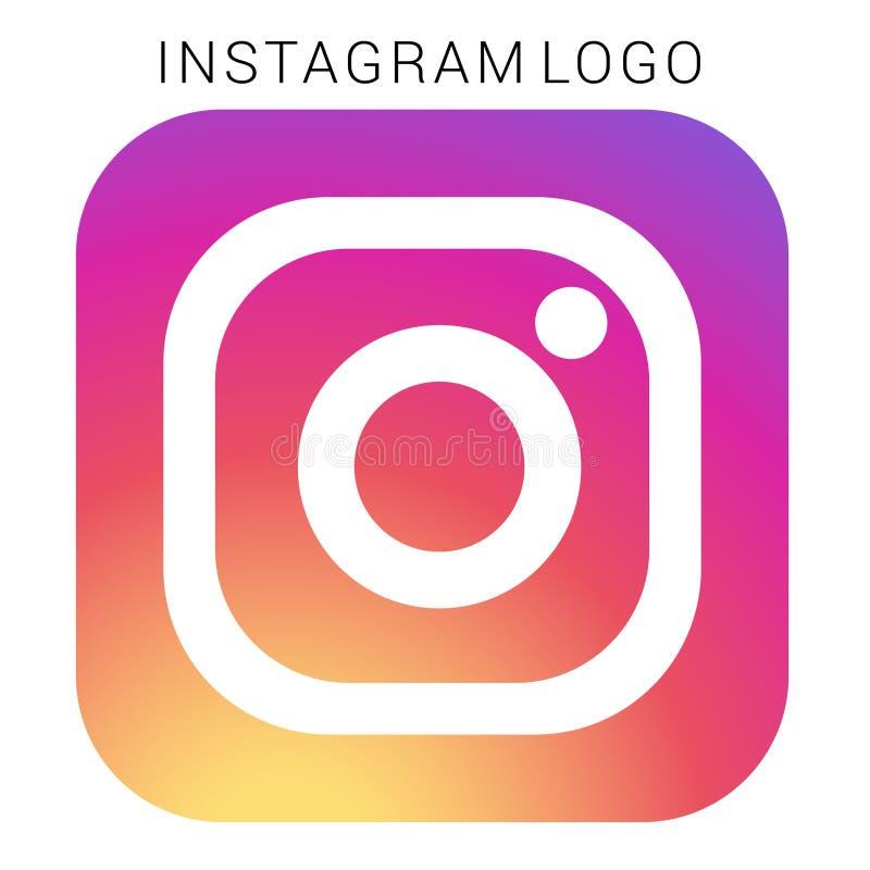 Instagram-Logo mit Vektor Ai-Datei Quadriert gefärbt stock abbildung