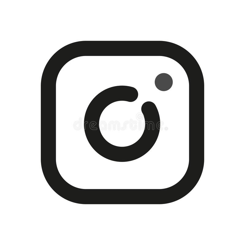 Instagram logo Proste kreskowe ikony dla sieci obrazy royalty free