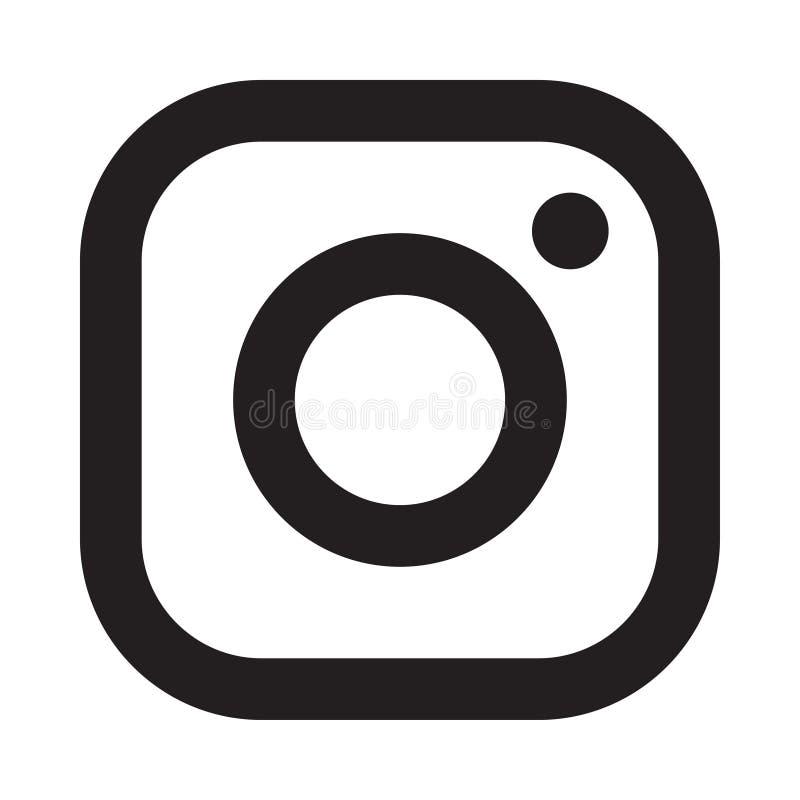 Instagram logosymbol royaltyfri illustrationer