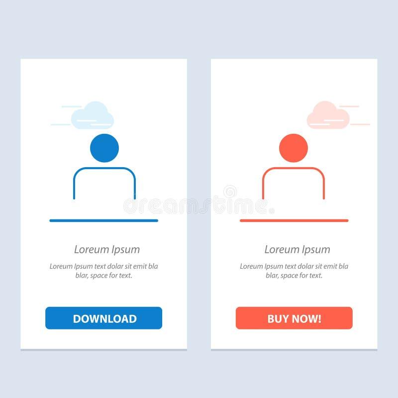 Instagram, ludzie, profil, sety, użytkownik sieci Widget karty szablon, i ściągania i zakupu Teraz ilustracja wektor