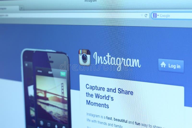 Instagram Main Webpage Editorial Stock Photo