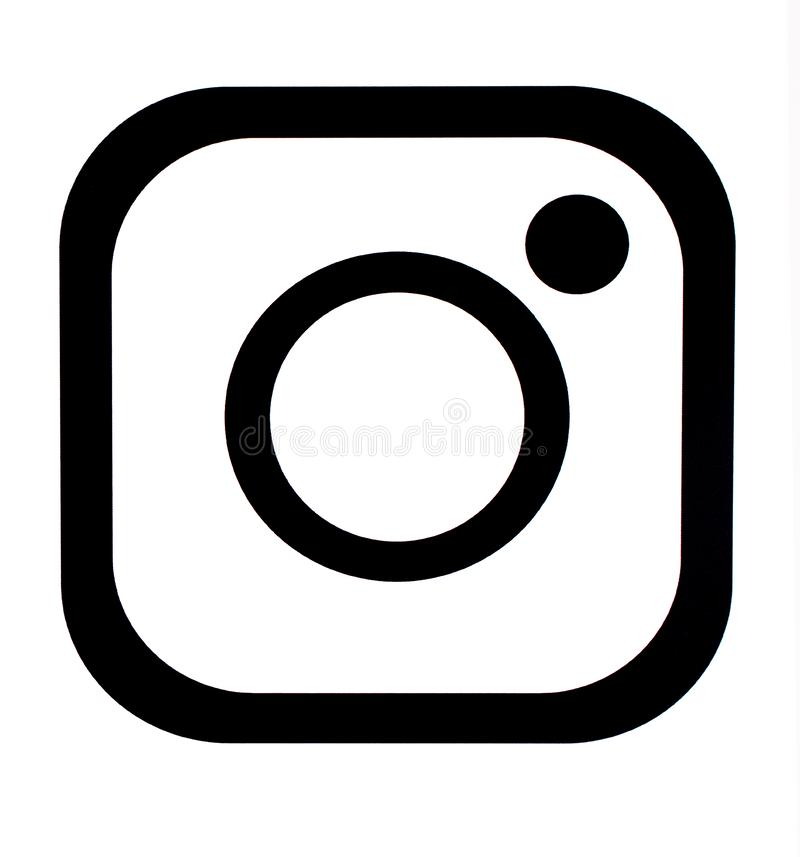 Vector Illustration Instagram: Stock Vector Facebook Icon With Line Style Editorial Stock