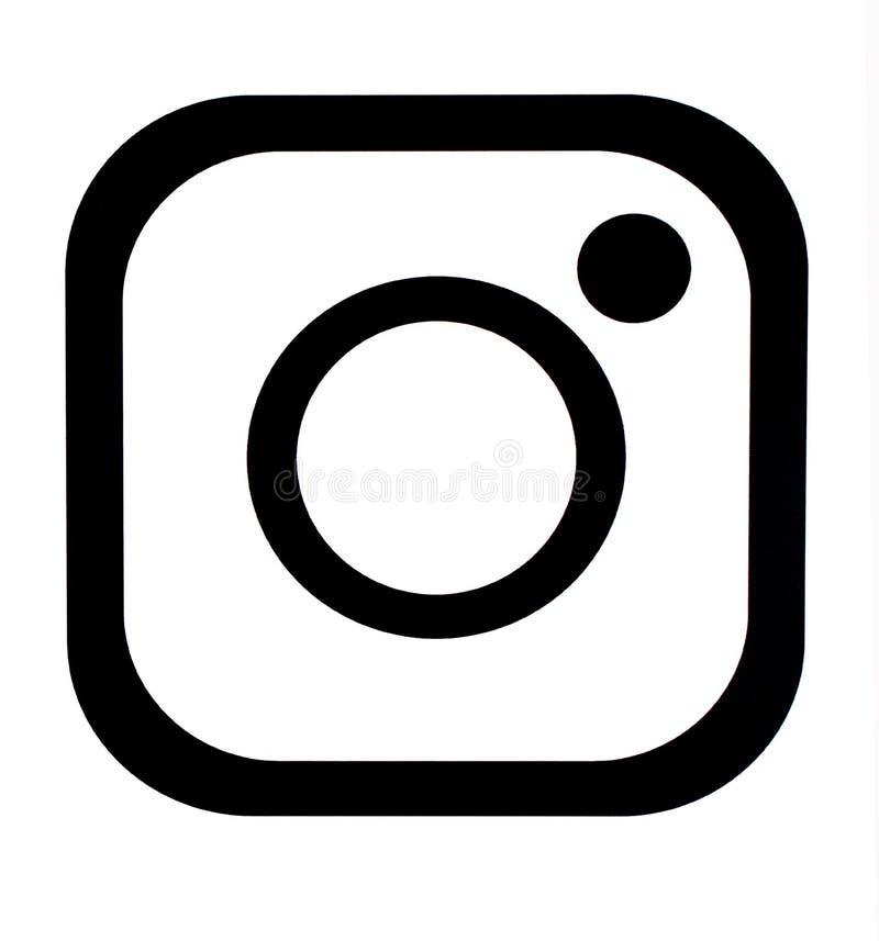 Instagram ny symbol vektor illustrationer