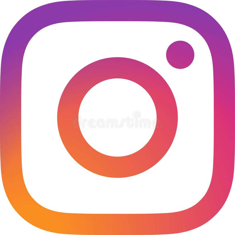 Editorial - Instagram logo vector. Instagram is a photo and video-sharing social networking service owned by Facebook, Inc