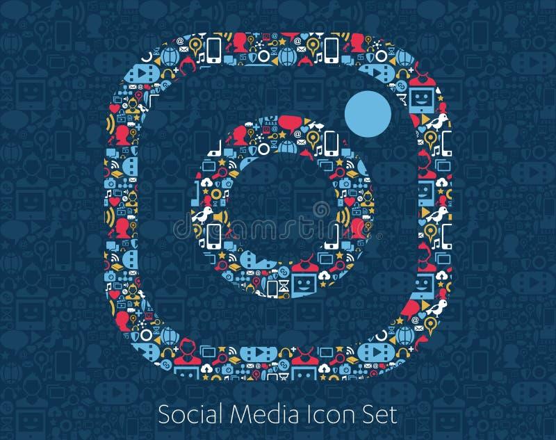 Instagram Social Media Icons stock illustration