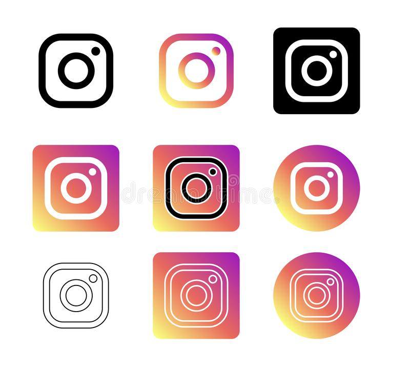 Free Instagram Social Media Icons Vector. Stock Images - 160802934